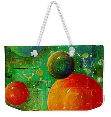 Celestal Planets Weekender Tote Bag by Tamyra Crossley