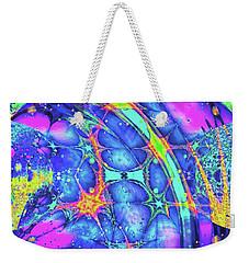 Weekender Tote Bag featuring the digital art Celestial Burst by Wendy J St Christopher