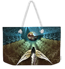 Weekender Tote Bag featuring the digital art Celestial Cavern by Vincent Autenrieb