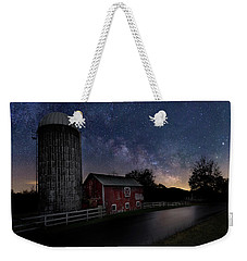 Weekender Tote Bag featuring the photograph Celestial Farm by Bill Wakeley