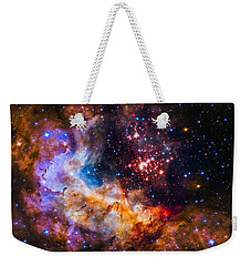 Celestial Fireworks Weekender Tote Bag by Marco Oliveira