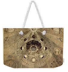 Celestial Map 1710b Weekender Tote Bag by Andrew Fare