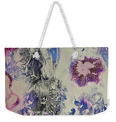 Weekender Tote Bag featuring the painting Celestial by Michele Myers