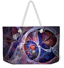 Celestial North - Fractal Art Weekender Tote Bag by NirvanaBlues