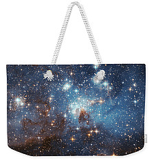Weekender Tote Bag featuring the photograph Celestial Season's Greetings From Hubble by Nasa