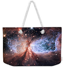 Weekender Tote Bag featuring the photograph Celestial Snow Angel - Enhanced - Sharpless 2-106 by Adam Romanowicz