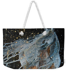 Weekender Tote Bag featuring the painting Celestial Stallion  by Jani Freimann
