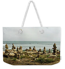 Cell Phone Rock Art Weekender Tote Bag