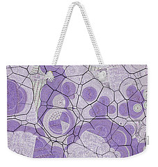 Weekender Tote Bag featuring the digital art Cellules - 03c2 by Variance Collections
