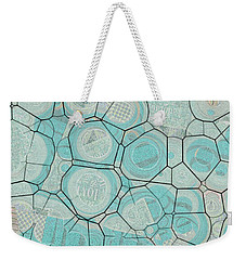 Weekender Tote Bag featuring the digital art Cellules - 04c1 by Variance Collections
