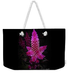 Weekender Tote Bag featuring the photograph Celosia Intenz by Judy Hall-Folde