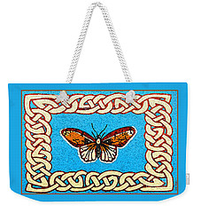 Celtic Butterfly Weekender Tote Bag