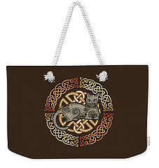 Celtic Cat Weekender Tote Bag