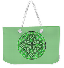 Weekender Tote Bag featuring the mixed media Celtic Clover Mandala by Kristen Fox