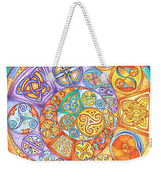 Celtic Crescents Rainbow Weekender Tote Bag