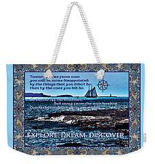 Celtic Explorer - Bluenose II In Halifax Harbour Weekender Tote Bag
