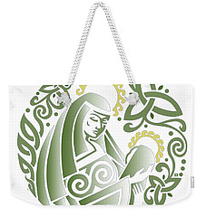 Celtic Green Madonna Weekender Tote Bag