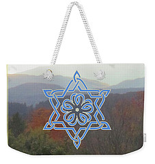 Celtic Hexagram Rose In Blue Weekender Tote Bag