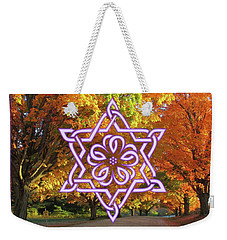 Celtic Hexagram Rose In Lavandar Weekender Tote Bag