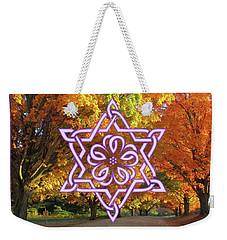 Celtic Hexagram Rose In Lavandar Weekender Tote Bag