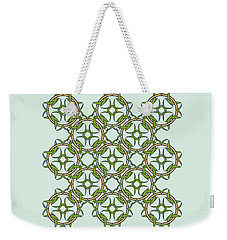 Celtic Knot Interlocking In Green And Gold Weekender Tote Bag by MM Anderson