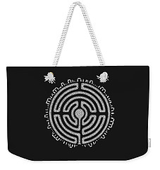 Weekender Tote Bag featuring the mixed media Celtic Labyrinth Mandala by Kristen Fox