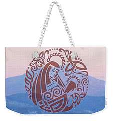 Celtic Madonna Over A Mountain Weekender Tote Bag