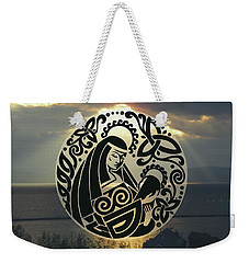 Celtic Madonna Over Sunset Weekender Tote Bag