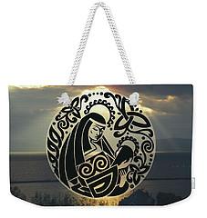 Celtic Madonna Over Sunset Weekender Tote Bag