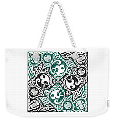 Celtic Puzzle Square Weekender Tote Bag