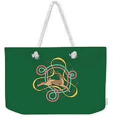 Celtic Reindeer Knots Weekender Tote Bag