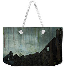 Weekender Tote Bag featuring the painting Celtic Ruins by Ivana Westin
