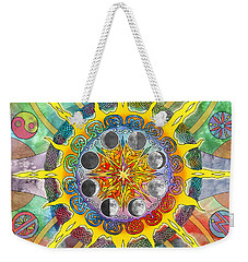 Weekender Tote Bag featuring the mixed media Celtic Stargate by Kristen Fox