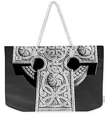 Weekender Tote Bag featuring the photograph Celtic Stone Cross At Sunset by Gary Whitton