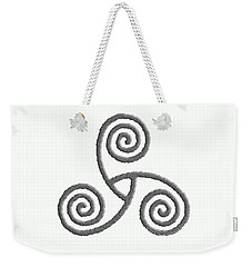 Celtic Triple Spiral Weekender Tote Bag