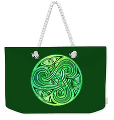 Weekender Tote Bag featuring the mixed media Celtic Triskele by Kristen Fox
