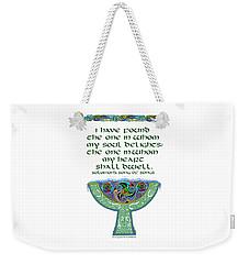 Celtic Wedding Goblet Weekender Tote Bag