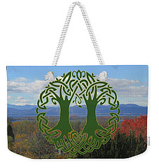 Celtic Wedding Tree In Green Weekender Tote Bag