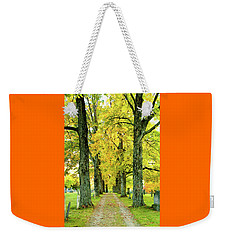 Weekender Tote Bag featuring the photograph Cemetery Lane by Greg Fortier