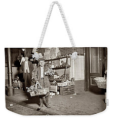 Weekender Tote Bag featuring the painting Center Market In Washington by Artistic Panda