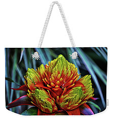Weekender Tote Bag featuring the photograph Centerpiece - Bromeliad 005 by George Bostian