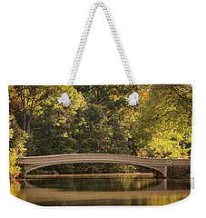 Weekender Tote Bag featuring the photograph Central Park Bridge by Francisco Gomez