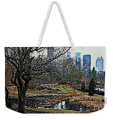 Weekender Tote Bag featuring the photograph Central Park In January by Sandy Moulder