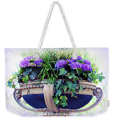 Weekender Tote Bag featuring the photograph Central Park Planter by Jessica Jenney