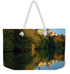Weekender Tote Bag featuring the photograph Central Park Refelctions by James Kirkikis