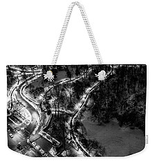 Weekender Tote Bag featuring the photograph Central Park Trails by M G Whittingham