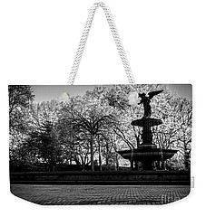 Central Park's Bethesda Fountain - Bw Weekender Tote Bag