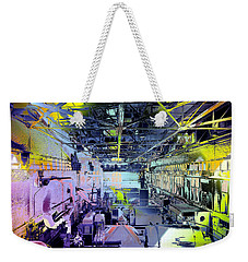 Weekender Tote Bag featuring the photograph Grunge Central Power Station by Robert G Kernodle