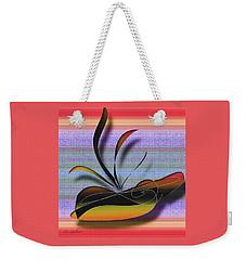Weekender Tote Bag featuring the digital art Centrepiece  20 by Iris Gelbart