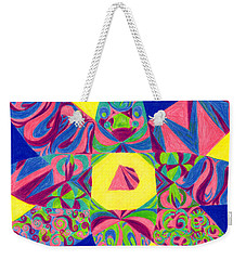 Weekender Tote Bag featuring the drawing Centrifugal by Kim Sy Ok